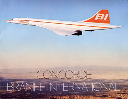 Concorde, Braniff, Couleurs