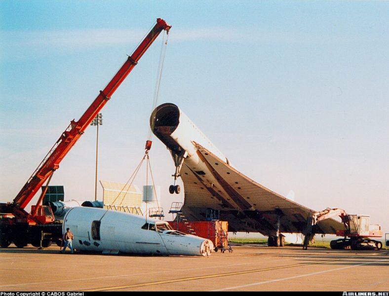Concorde, FD, F-BVFD SN211, CDG, démantèlement,1994