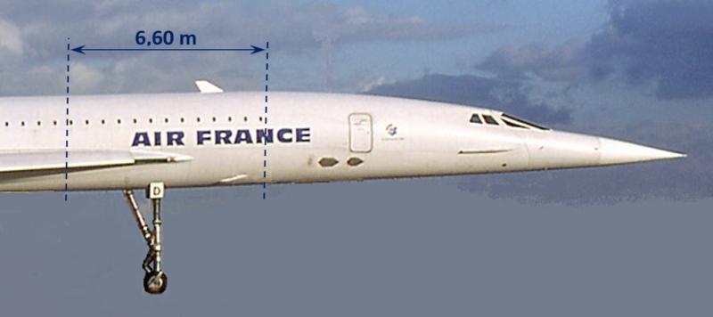 Concorde, FD, position du tronçon, montage